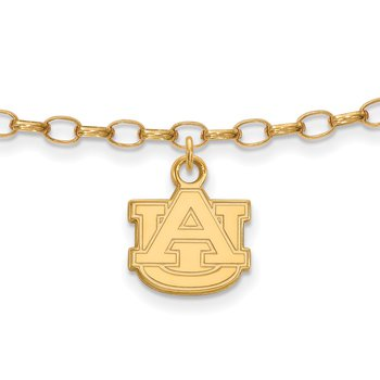 Gold-Plated Sterling Silver Auburn University NCAA Bracelet