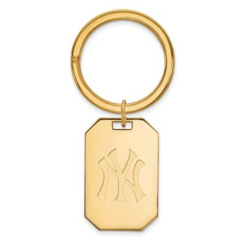 Gold-Plated Sterling Silver New York Yankees MLB Key Chain