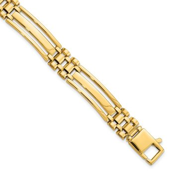 14k Men's Polished 8.5in Link Bracelet