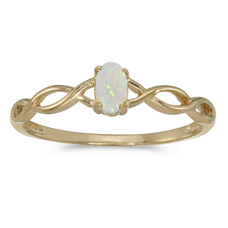 Color Merchants 10k Yellow Gold Oval Opal Ring