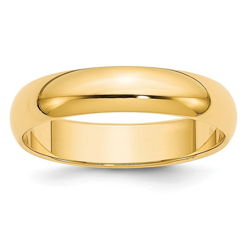 Quality Gold 14k 5mm Half-Round Wedding Band