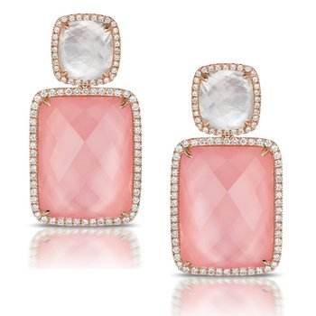 Bella Rosa Rose Quartz Earrings