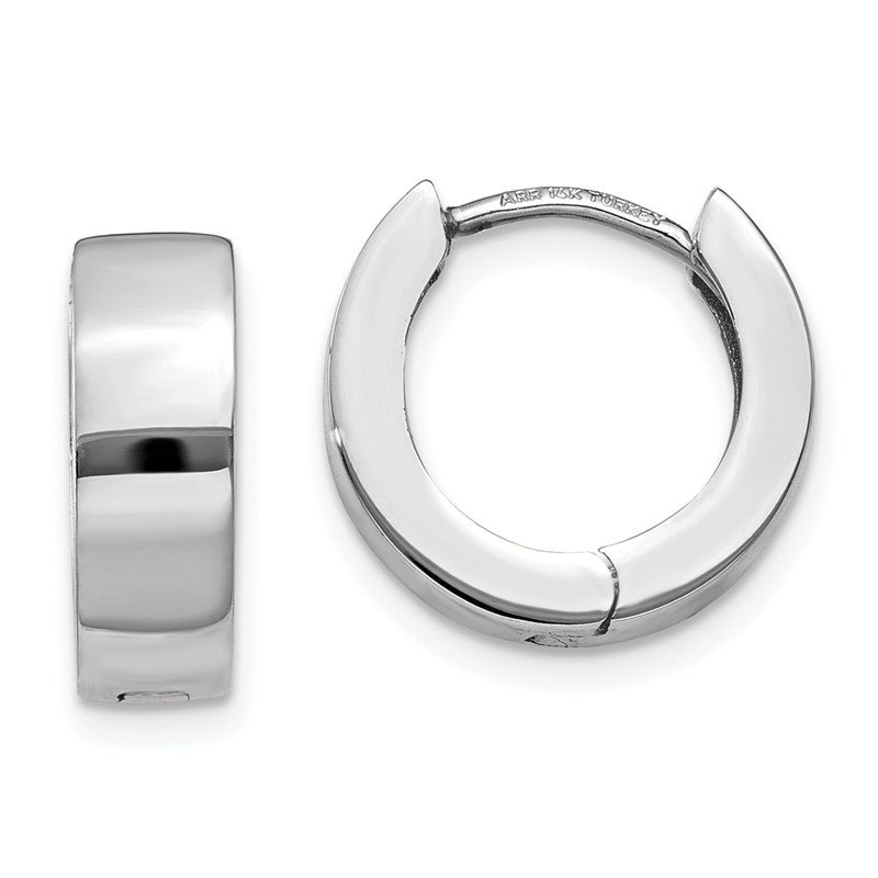 Quality Gold 14K White Gold Hinged Hoop Earrings