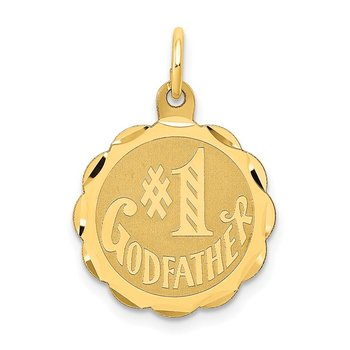 14K #1 GODFATHER Charm