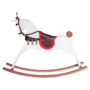 Iena - White matt rocking horse