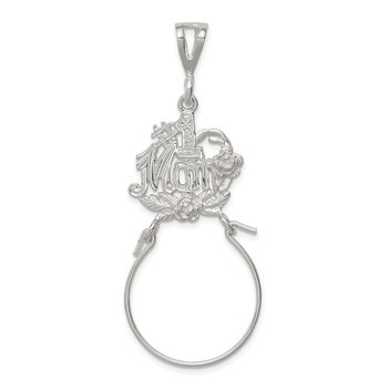 Sterling Silver #1 Mom Charm Holder
