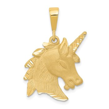 14k Unicorn Head Charm