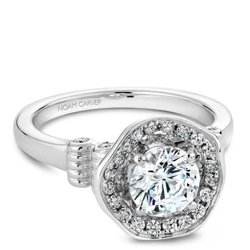 Noam Carver Floral Engagement Ring B014-01A