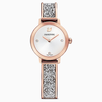 Cosmic Rock Watch, Metal bracelet, Gray, Rose-gold tone PVD