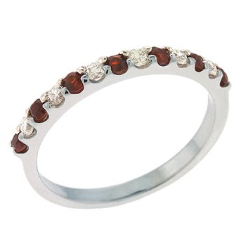 Garnet & Diamond Band
