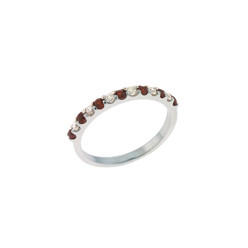 S. Kashi  & Sons Garnet & Diamond Band