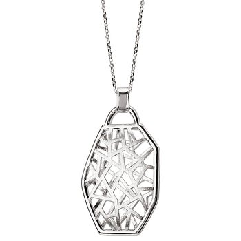 ELAN 925 SATIN CUTOUT PENDANT HIGH POL EDGES, MATCH 813526