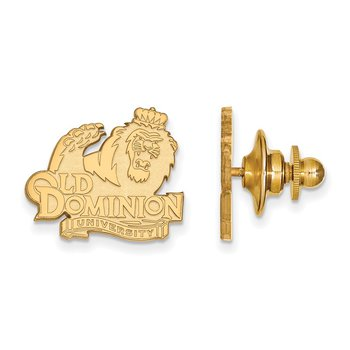 Gold-Plated Sterling Silver Old Dominion University NCAA Lapel Pin