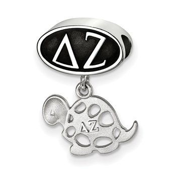 Sterling Silver Delta Zeta Greek Life Bead