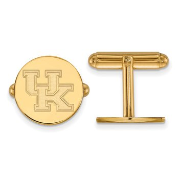 Gold-Plated Sterling Silver University of Kentucky NCAA Cuff Links