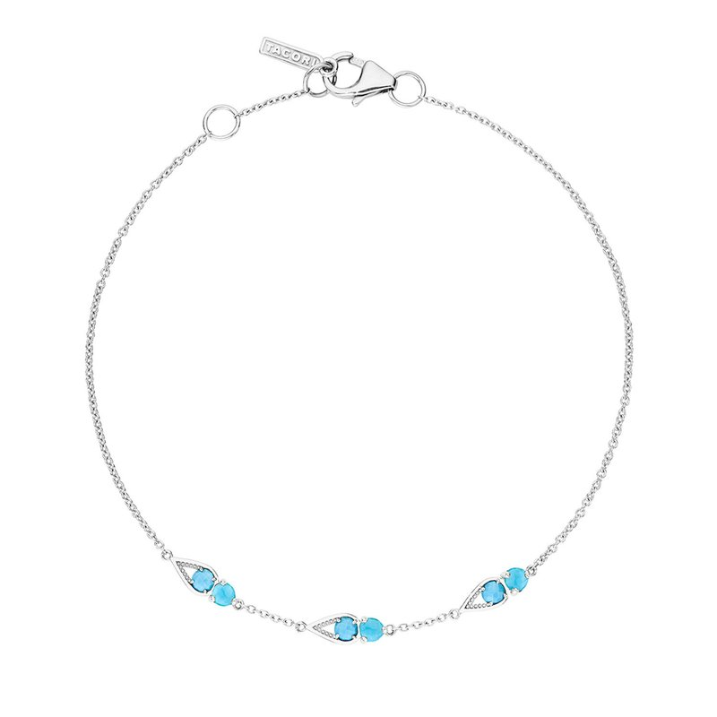 Tacori Fashion Petite Open Crescent Gemstone Bracelet with Turquoise