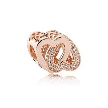 Entwined Love Charm, Pandora Rose™ Clear Cz