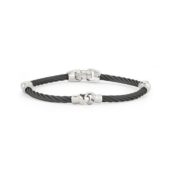 Black Cable Interlocking Bracelet