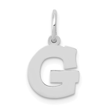 14KW Small Block Letter G Initial Charm