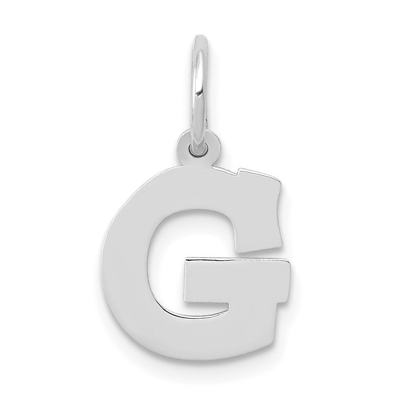 Quality Gold 14KW Small Block Letter G Initial Charm