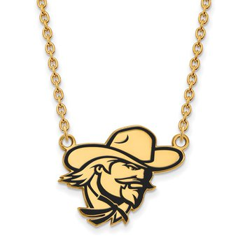 Gold-Plated Sterling Silver Eastern Kentucky University NCAA Necklace