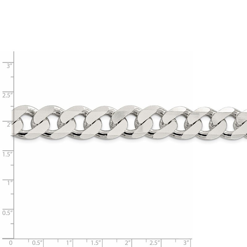 Quality Gold Sterling Silver 15mm Curb Chain