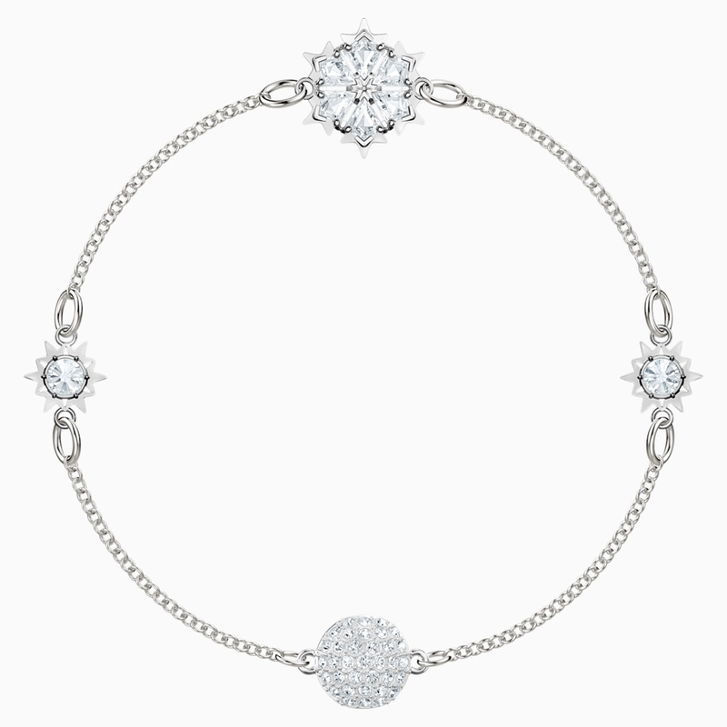 Swarovski Swarovski Remix Collection Snowflake Strand, White, Rhodium plated