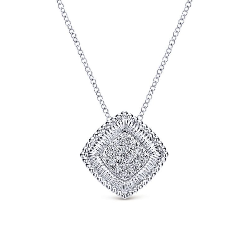 Gabriel Fashion 925 Silver Mediterranean Diamond Necklace