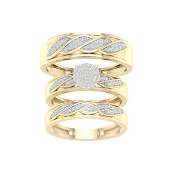 10K 0.33Ct Diam Trio Set