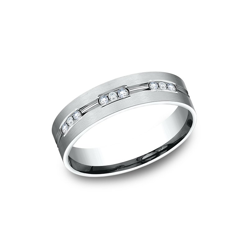 Benchmark Comfort-Fit Diamond Wedding Band