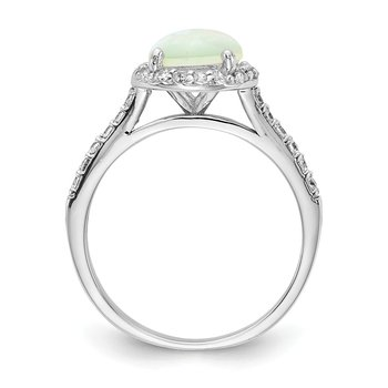 Cheryl M SS Lab Created White Opal Ring