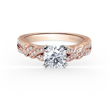 Ribbon Twist Diamond Engagement Ring