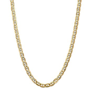 Leslie's 14K 7mm Concave Anchor Chain