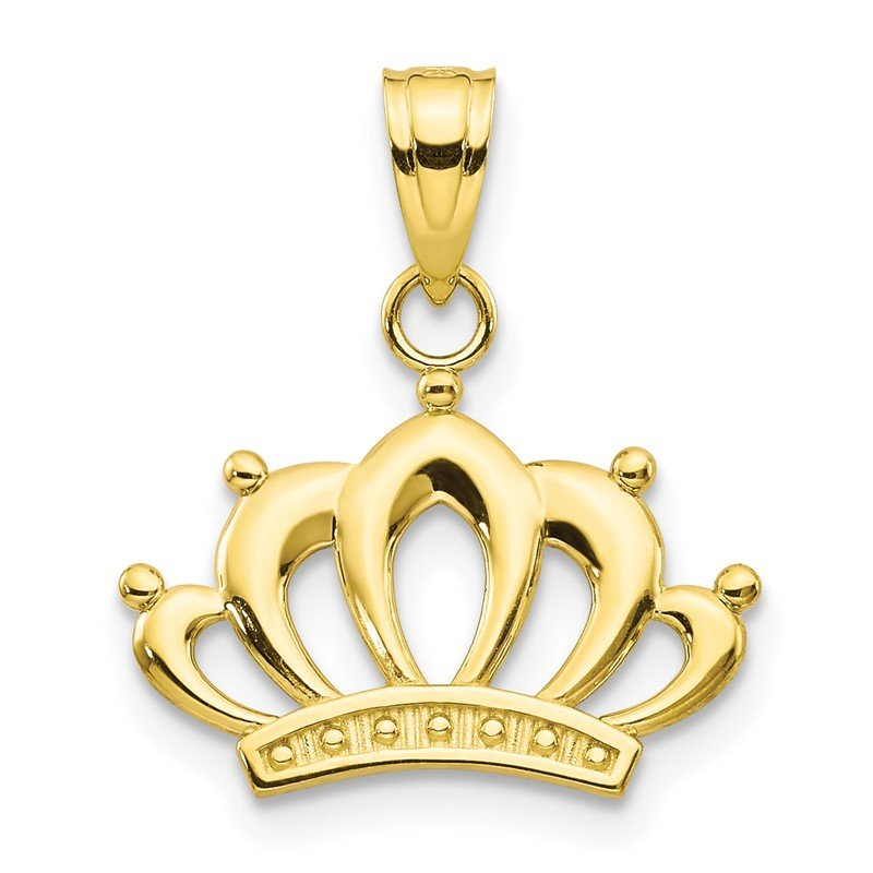 Quality Gold 10k Crown Charm