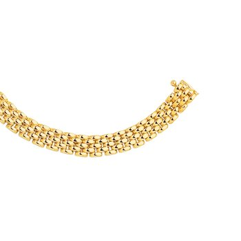 14K Gold 6.5mm Panther Chain
