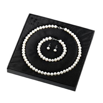 Silver Pearl Gift Set White