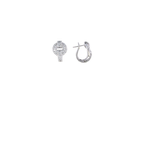 Roberto Coin 18Kt White Gold Diamond O Earrings