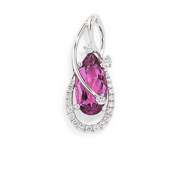 Pink Sapphire Pendant-CP3525WPS