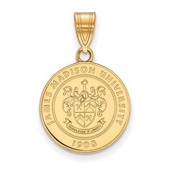 Gold-Plated Sterling Silver James Madison University NCAA Pendant