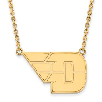 Gold University of Dayton NCAA Necklace