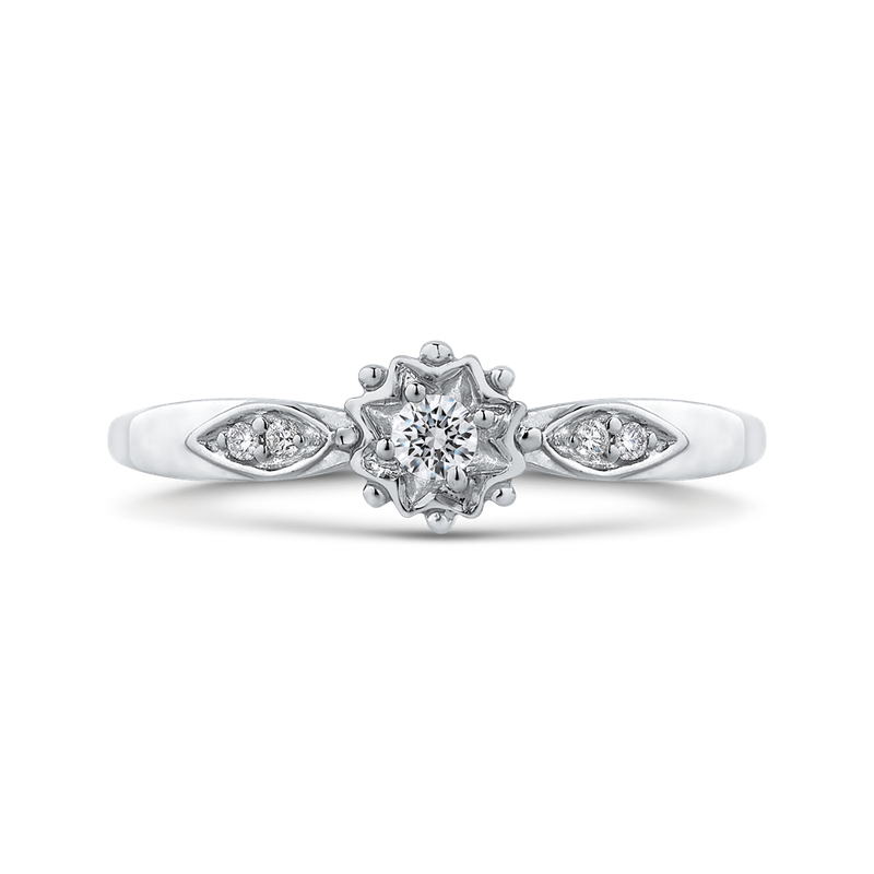 Essentials 10K White Gold .08 Ct Diamond Fashion Ring
