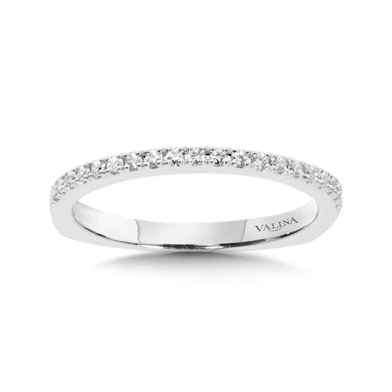 Valina Bridals Diamond and 14K White Gold Wedding Ring (0.15 ct. tw.)
