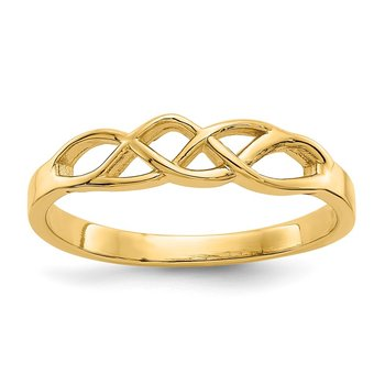 14k Free Form Knot Ring