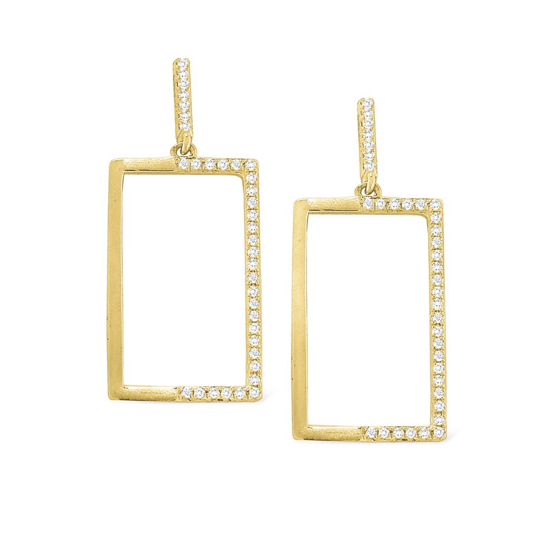 KC Designs 14K Diamond Geometric Earrings