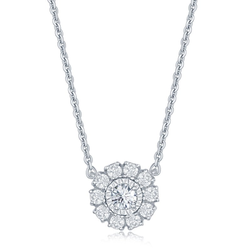 Veer Diamonds ROUND MIRACLE FLOWER PENDANT