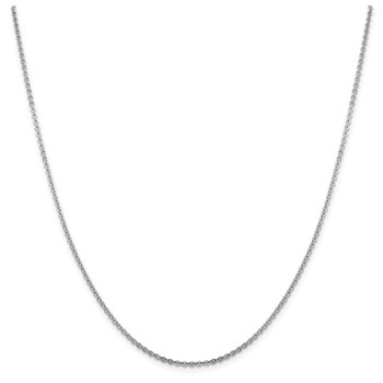Leslie's 14K White Gold 1.95 mm Flat Cable Chain