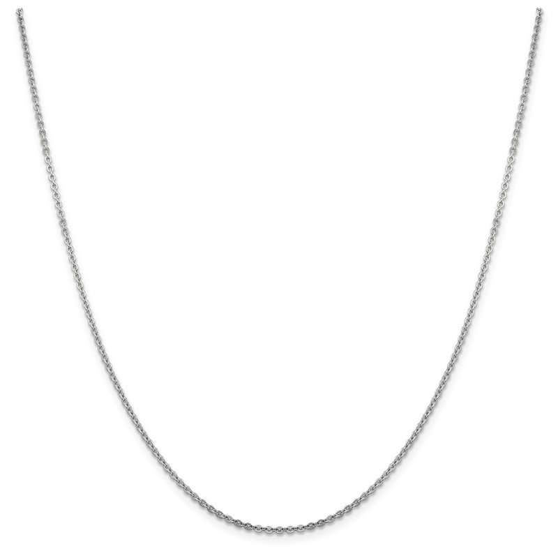 Leslie's Leslie's 14K White Gold 1.95 mm Flat Cable Chain