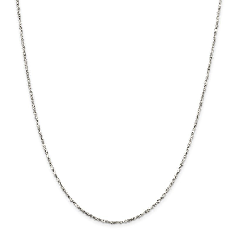 J.F. Kruse Signature Collection Sterling Silver 1.8mm Twisted Serpentine Chain