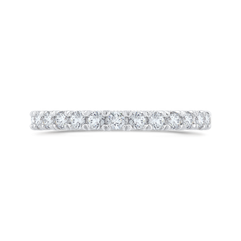 Round Cut Diamond Half-Eternity Wedding Band In 18K White Gold