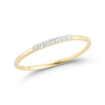 14K Band with 7 Diamonds 0.06C